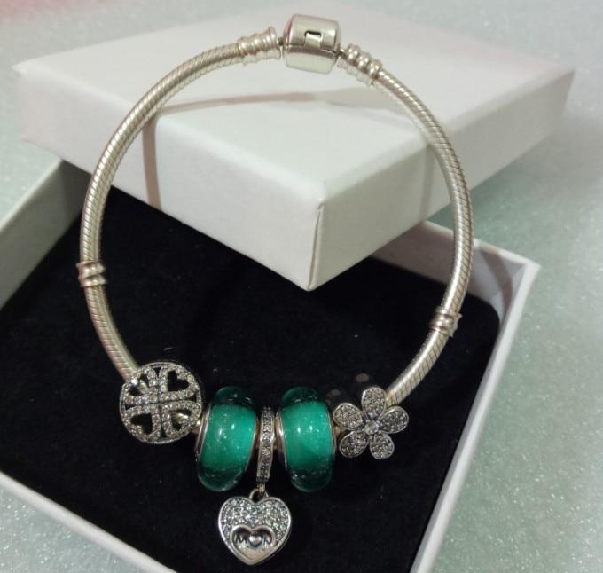 Authentic 925 Sterling Silver Chain Snake Bracelet & Bangle original Snake bracelet Jewelry for women