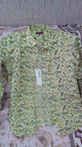 Dioufond New Floral Long Sleeve Vintage Blouse Cherry Turn Down Collar Shirt Blusas Feminino Ladies Blouses Womens  Tops Fashion