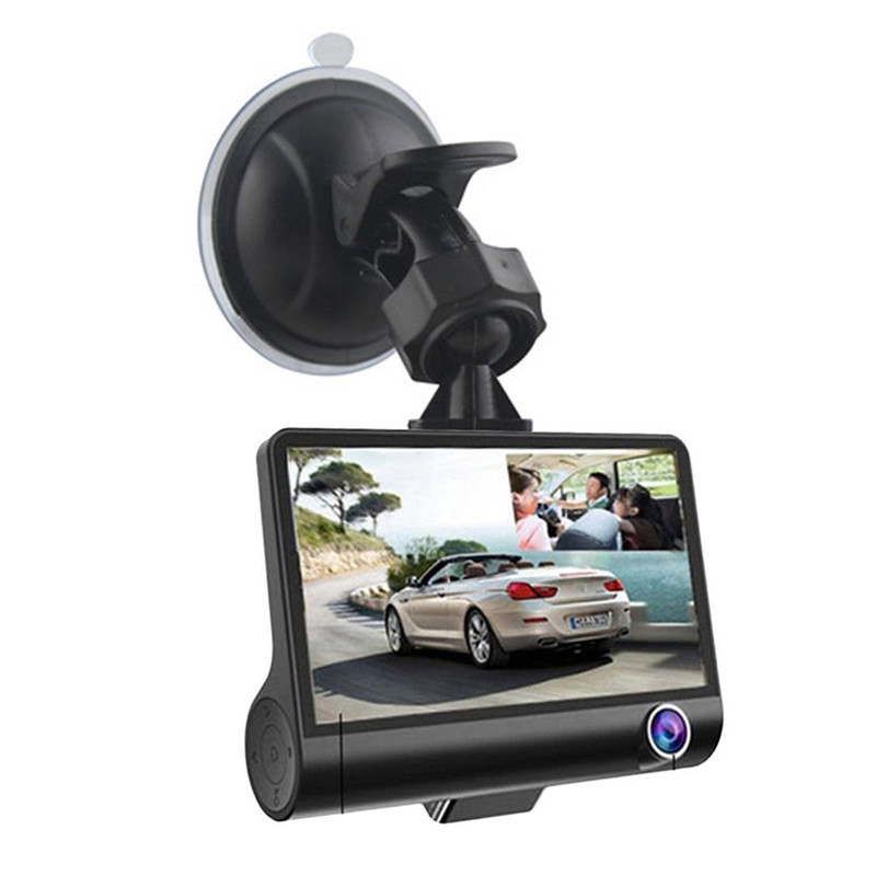 Driving Recorder G212931 G212873 Plus Memory Card 8G New 4 Inch Inside and Outside Recorder without Reversing Image 1 Set in Parking Sensors from Automobiles Motorcycles
