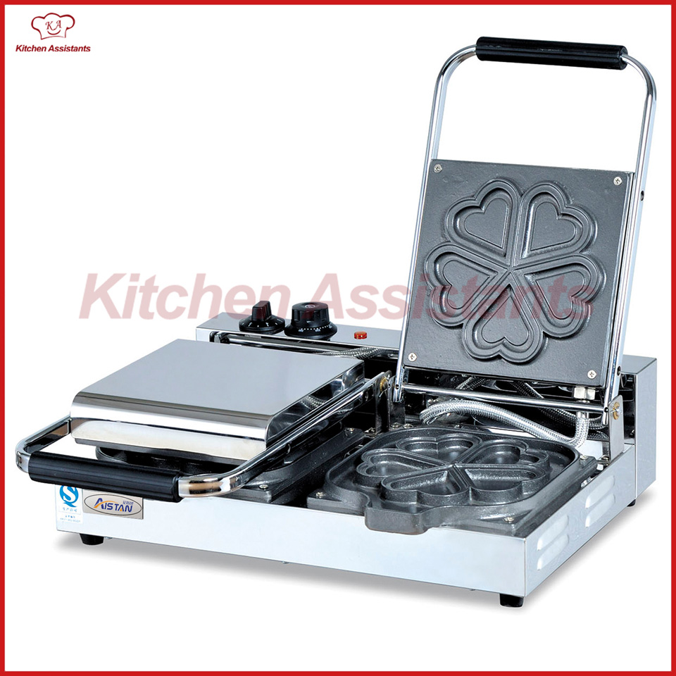 EG5A-2 commercial electric desktop heart shape waffle baker baking machine with mold mould egg mold commercial electric gas metal baking pan tool for cake heart waffle mould roller kitchen accessories christmas