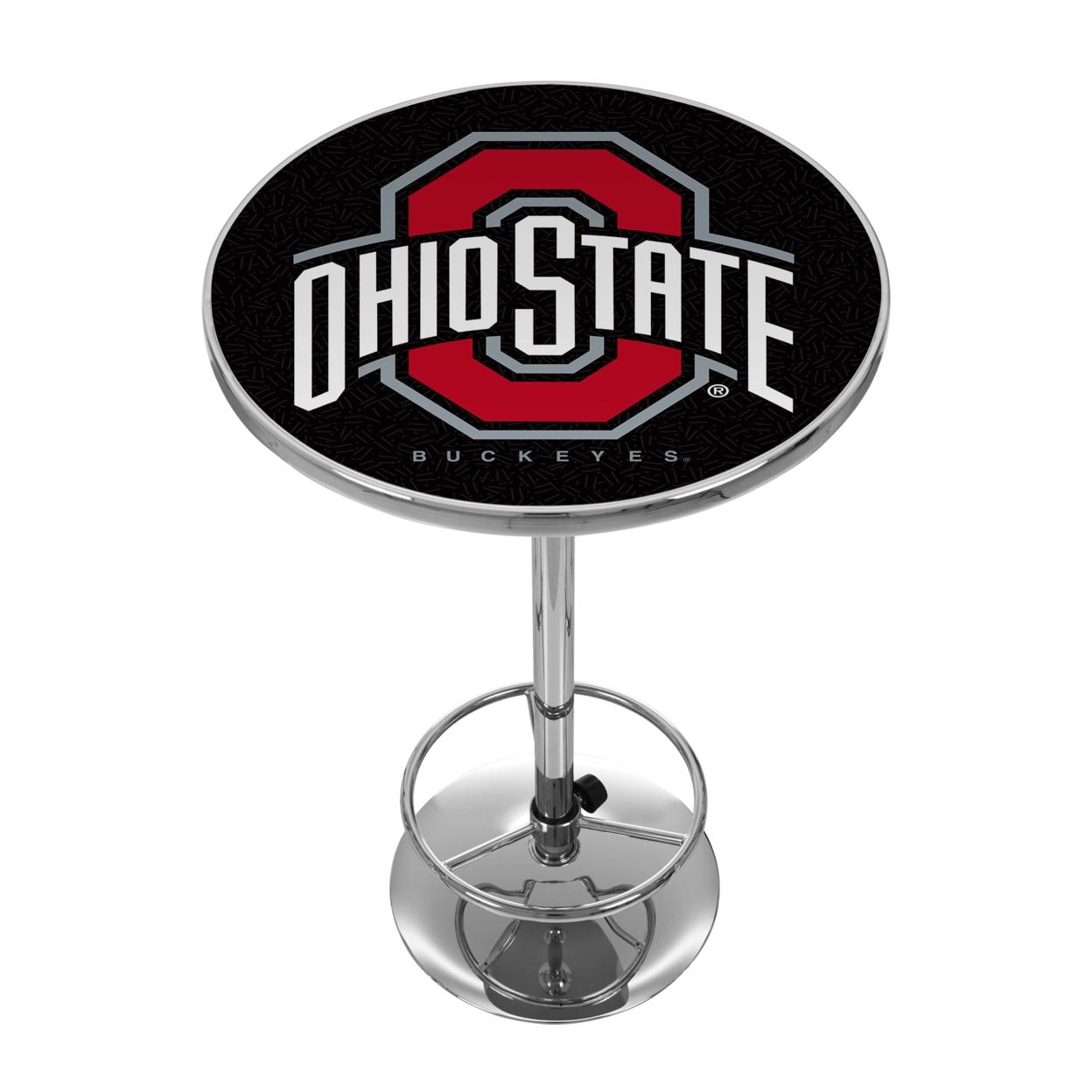 The Ohio State University 42 Inch Pub Table - Black winesburg ohio