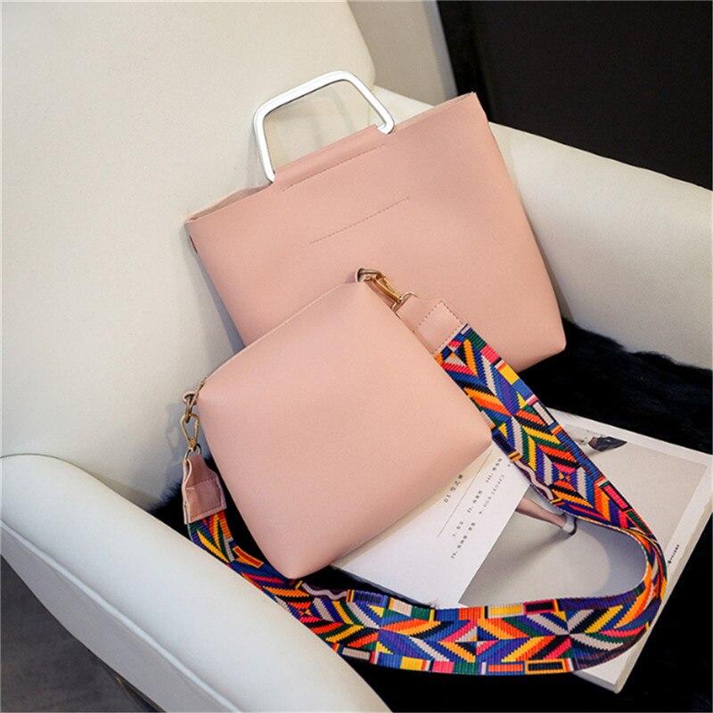 rosa top-handle sacolas bolsa das Key Word 1 : 2 Pcs Bag Conjunto Women Bags