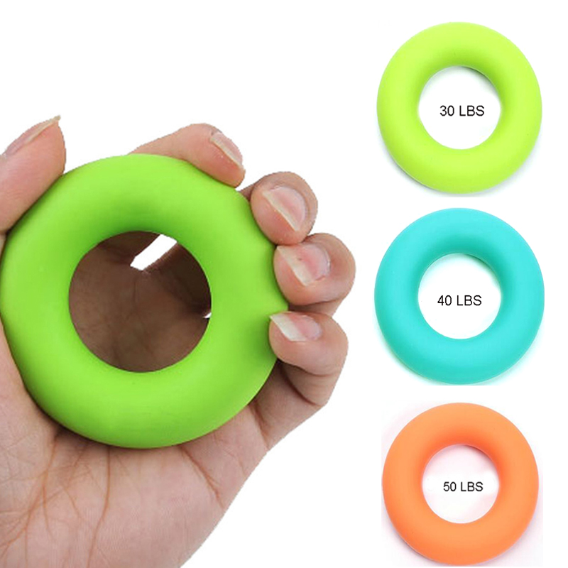 Hand Grips Silicone Ring Strength Gripper Exercise Fitness Body Building Hand Expander Muscle Power Training Rubber Ring