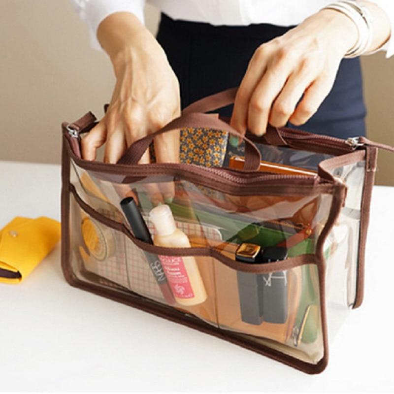 Casual transparent cosmetic bag PVC waterproof makeupbag travel agency shower storage bag multi - functional packaging