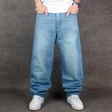 2018 nueva marca hombres Hip Hop Jeans Skateboard hombres Baggy Jeans Denim Hiphop  Pantalones Casual pantalones vaqueros sueltos. bac2939b36a