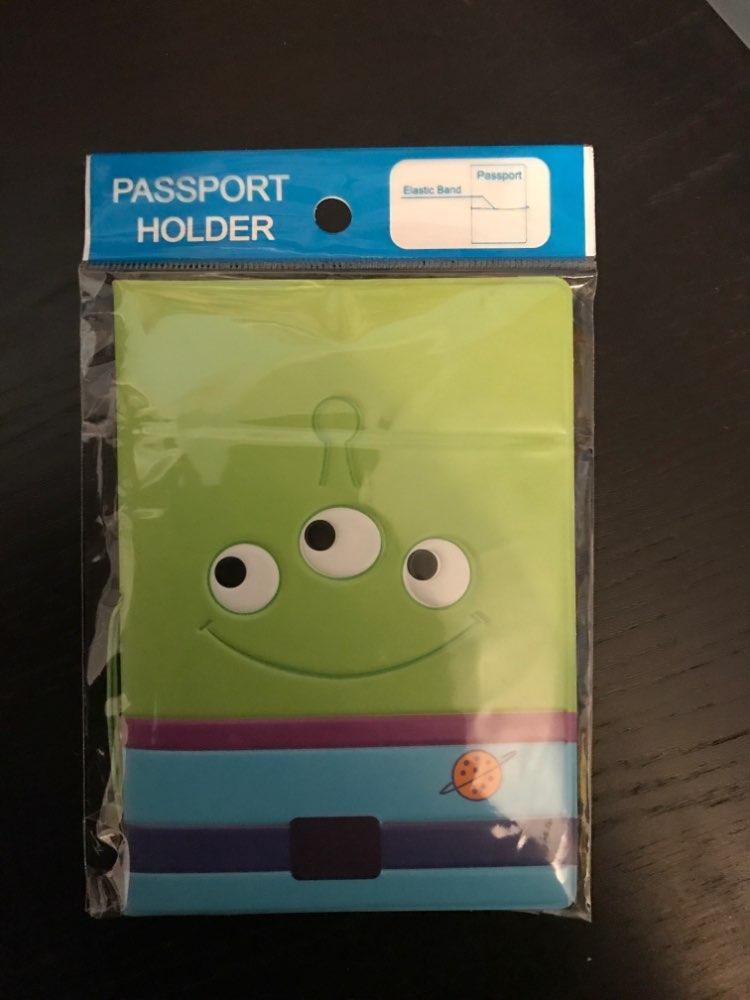 HEQUN Cute Little Green Men 3D PVC Children Passport Cover Card Holder Cartoon Travel Passport Case Fashion Passport Protective photo review