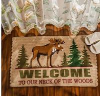 High Quality American Country Flax Abraham Carpet Brand Carpet Door Mat Room Floor Mats Anti Skid