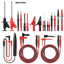 Meterk mk29 kits de chumbo teste eletrônico para multímetro digital tester com clipes jacaré pontas sondas substituíveis kit acessórios