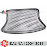 For Lada Kalina 2004-2013 Sedan Hatchback trunk mat floor rugs non slip polyurethane dirt protection interior trunk car styling