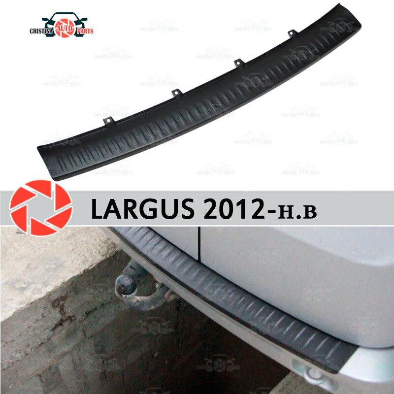 Pour Lada Largus 2012-plaque de protection de garde sur le rebord de pare-chocs arrière
