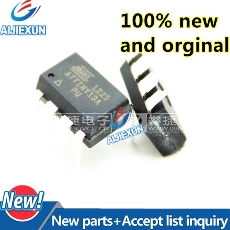 110Pcs 100 New and original ATTINY13A PU ATTINY13A attiny13 DIP8 8 bit Microcontroller with 1K Bytes