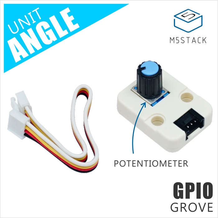 M5Stack Official Mini Angle Unit Potentiometer Inside Resistance Adjustable GPIO GROVE Co'n'nec'to'r