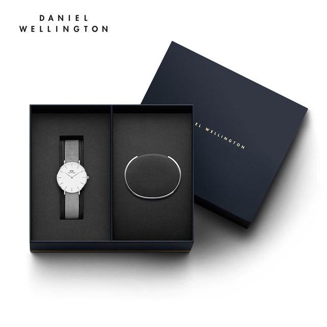 Женские наручные часы Daniel Wellington Classic Petite Sterling 32 мм + браслет Daniel Wellington Classic Bracelet размер S