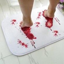 Нескользящий кровавый коврик для ванной из микрофибры с эффектом памяти, коврик для ванной, креативный Противоскользящий коврик с изображением следов крови, коврик для двери