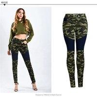 Women High Waist jeans Army Camouflage Stretch Skinny Pencil Jeans Denim Fashion 2019 Pantalon Femme Jean S,M,L,XL,2XL,3XL