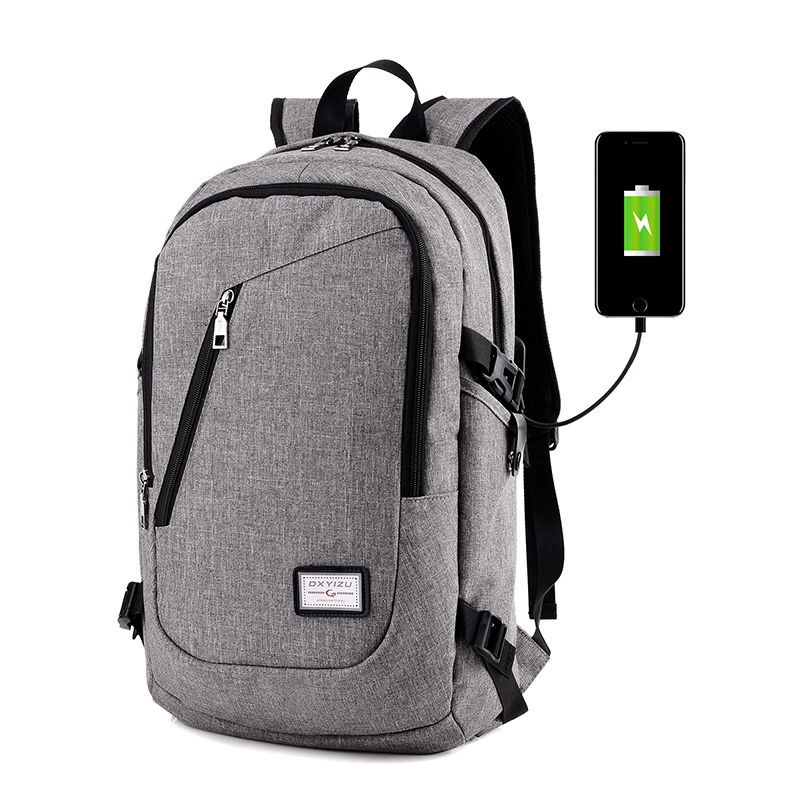USB Charge Interface Canvas Bag Laptop Notebook Backpack Laptop Case Cover Bag For Women Men