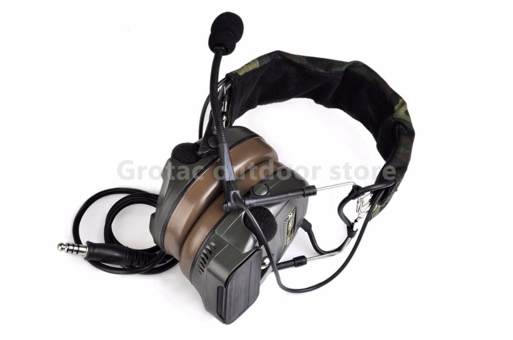Z-tactical zComtac I Headset Airsoft Military Headset Shooting Noise Reduction headphones Z054 рулевая колонка fsa orbit z 1 5 reduction blck