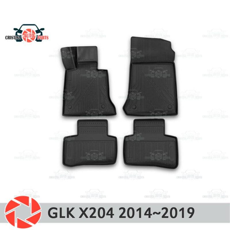 Tapis de sol pour mercedes-benz GLK X204 2014 ~ 2019 tapis antidérapants en polyuréthane protection contre la saleté accessoires de style de voiture intérieure