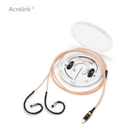 Acrolink 1.2m 16 Core High Qulity PCOCC DIY Upgraded Earphone Cable Repair Replacement With 0.78mm 2 Pins Interface For iPhone