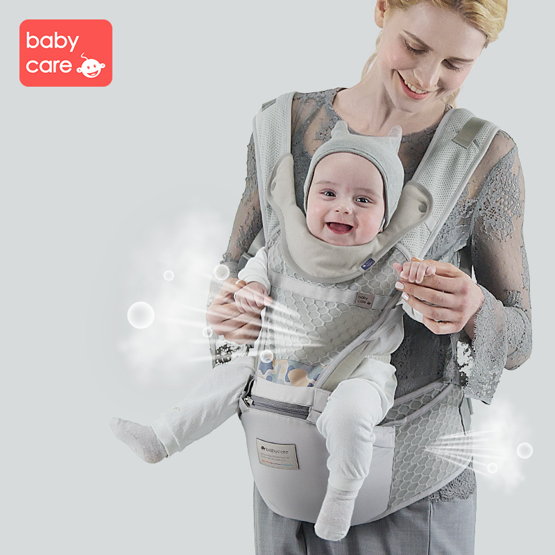 Babycare été respirant bébé transporteur ceinture bandoulière infantile taille tabouret multifonctionnel détachable stockage bébé ceinture