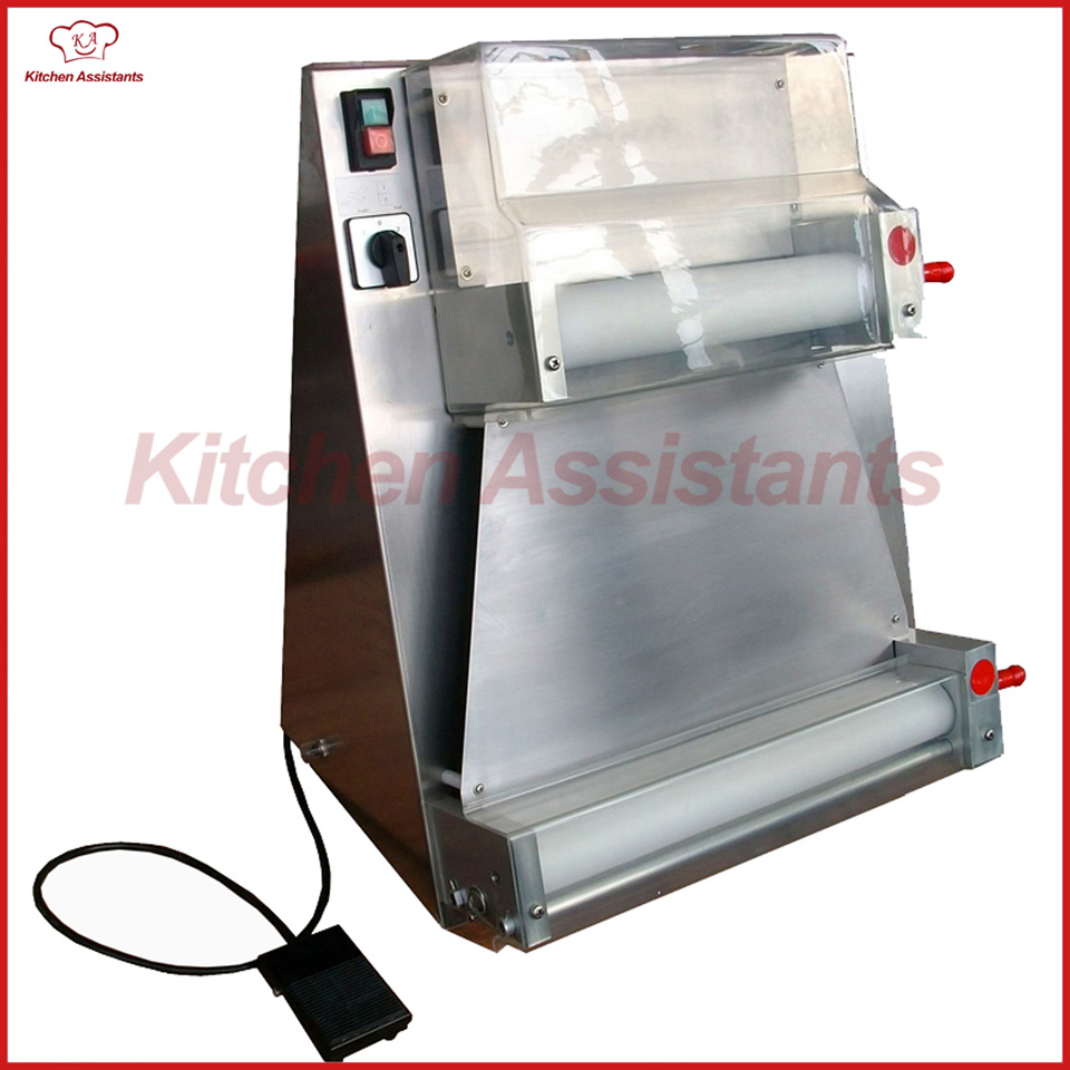 DR1V-FP electric stand stainless steel pizza dough roller machine pizza making machines dough sheeter with foot padel electric pizza dough press machine for rolling dough dough sheet making machine