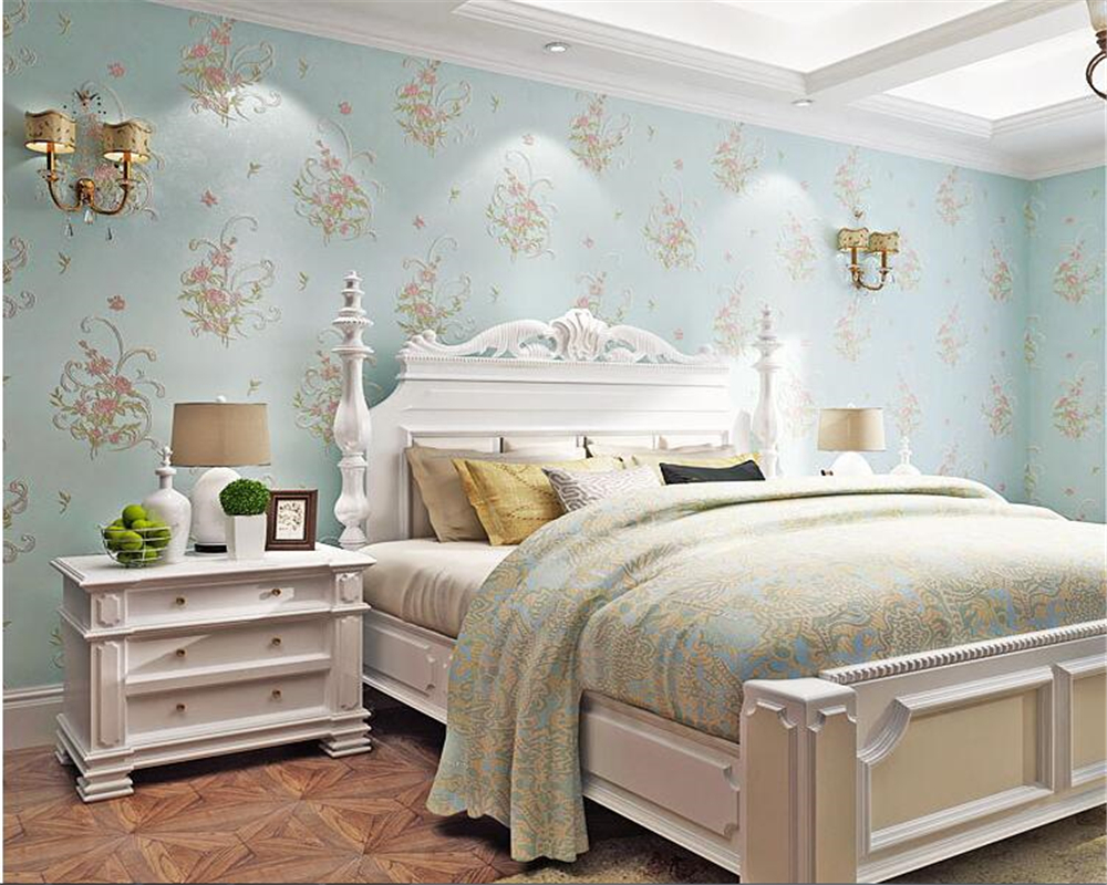 beibehang Fashion fresh small floral wallpaper bedroom living room background clothing store papel de parede 3d wallpaper tapety beibehang 3d wallpaper fashion clothing