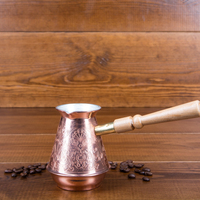 TURK VETTA coffee 370 ML a copper coffee pot tea service home kitchen utensils female children gift Cezve TY 370sb