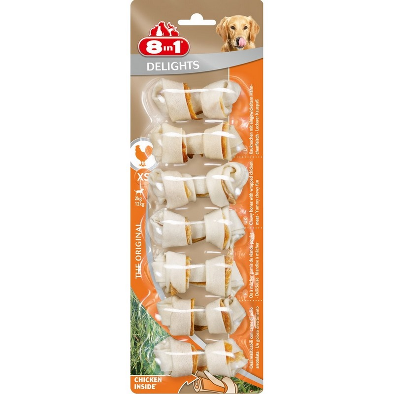 Dogs treats 8in1 DELIGHTS XS pits for small dogs (7.5 cm)