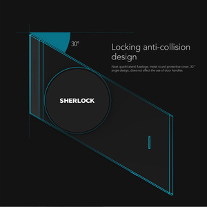 Image 5 - Sherlock Smart Lock S2 Smart Door Lock Home Keyless Fingerprint + Password Work To App Phone Bluetooth Control Electronic Lock