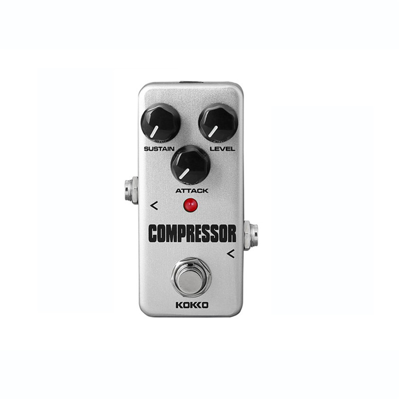 KOKKO FCP2 Compressor Guitar Effects Mini Effect Pedal Sustain Attack Level Control Ture bypass kokko frb2 mini space pedal portable guitar effect external ac adapter delivering 9v dc regulated guitar parts