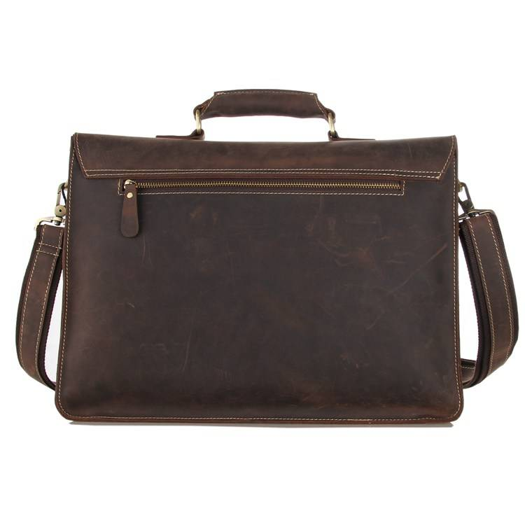 15 quot Laptop Bag Men Briefcase Crazy Horse Leather Business Casual Vintage Handbags Male Travel Brand Designer Filer Ipad Big Bag in Briefcases from Luggage amp Bags