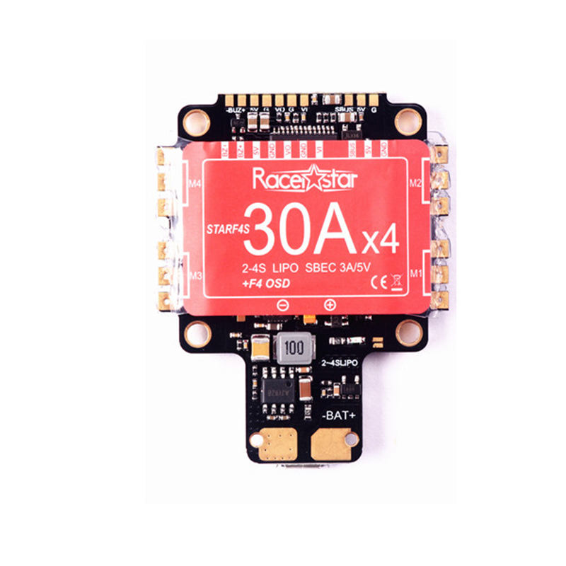Best Deal Racerstar StarF4S 30A Blheli_S Dshot 4 in 1 ESC AIO F4 OSD Flight Controller BEC Current Sensor For RC Multicopter emax f4 magnum tower parts bullet 30a 4 in 1 blheli s esc 2 4s built in current sensor for rc multicopter models motor frame
