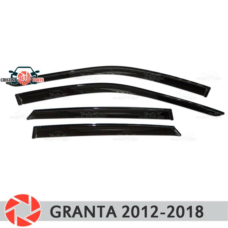 Deflector janela para Lada Granta 2012-2018 chuva defletor sujeira proteção styling acessórios de decoração do carro de moldagem