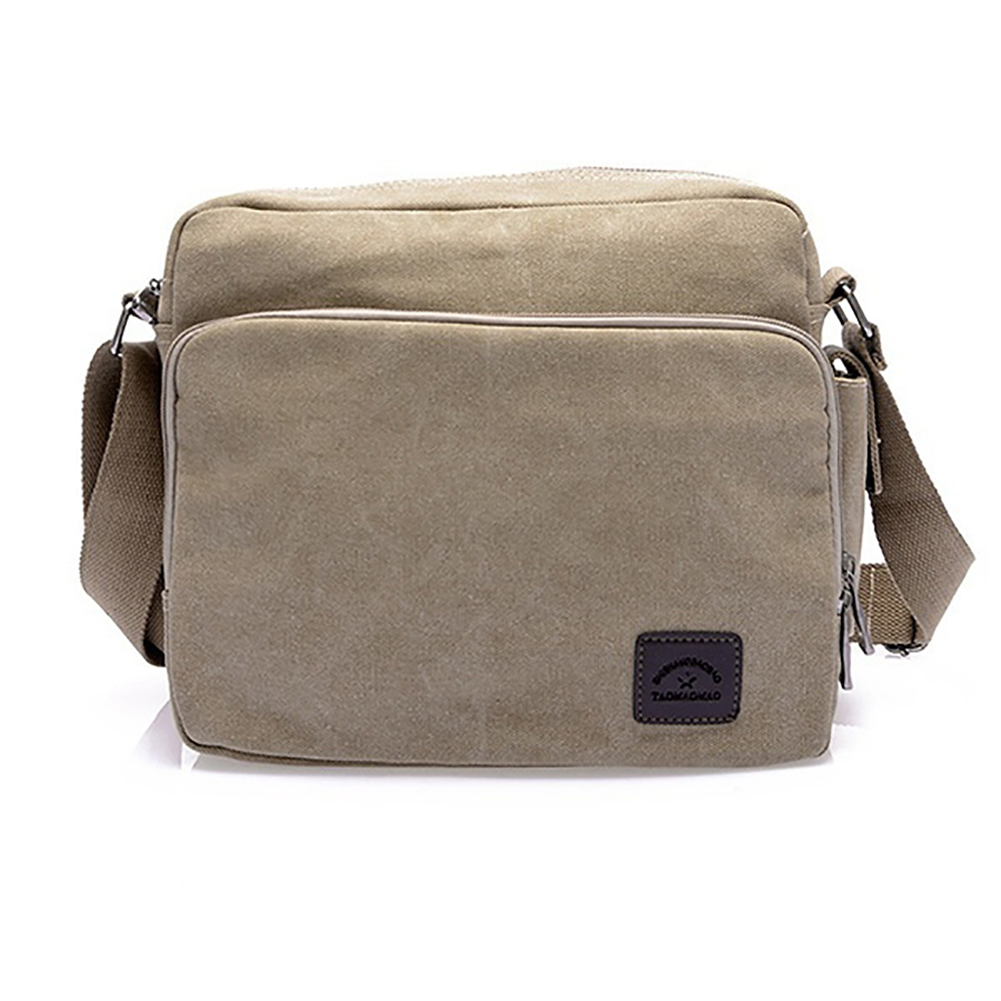 Vintage Mens Canvas Business Briefcase Crossbody Messenger Shoulder Bag