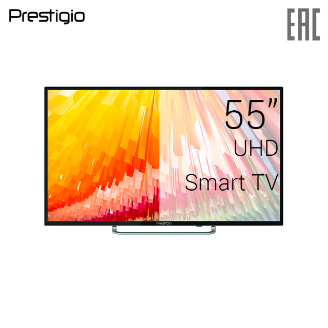 "Телевизор 55"" Prestigio PTV55DS02Y 4K Smart TV"