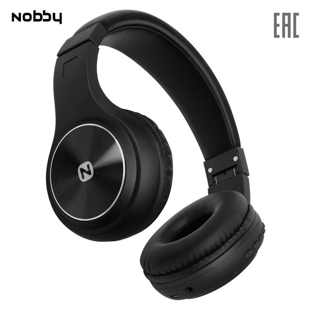 Беспроводные наушники с MP3 плеером Nobby Comfort B-230 , USB, удобные, стереогарнитура, портативные, черный