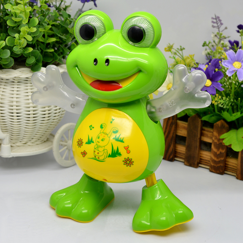 New Electronic Dancing Frog Pet Toys Robot doll Toys Light Music Universal Interactive Toys Children Toys Brithday Gifts YIJUN