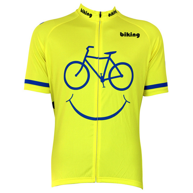 a0aa3cb98 Summer Men Pro Team Cartoon Funny Short Sleeve Cycling Jerseys MTB Bike  Quick Dry Breathable Jerseys Clothing