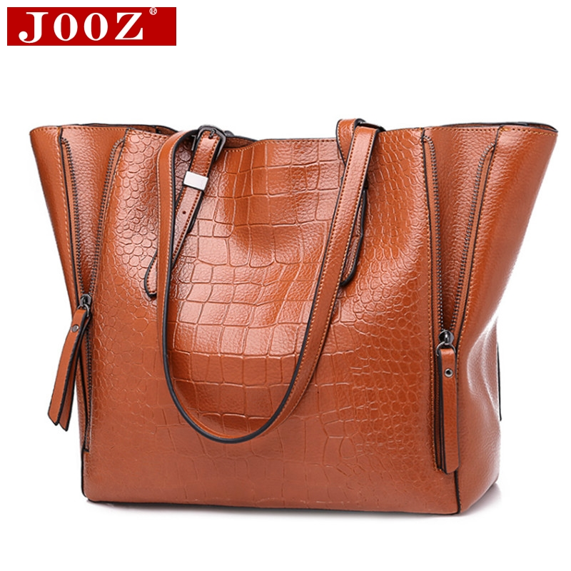 Detail Feedback Questions about JOOZ Women Top Handle Bags Alligator PU Leather  Women Messenger Bags Double strap big shoulder bags for woman bucket ... c01cf73b82b77