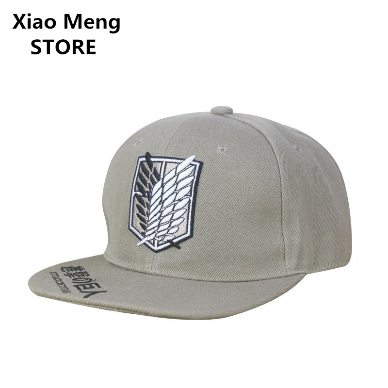 High Quality Japan Anime Attack on Titan Baseball Caps Hats Cartoon Peripheral Shingeki No Kyojin Hip Hop Snapback Cap Bone M23 потребительские товары shingeki kyojin
