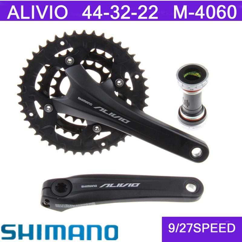 SHIMANO ALIVIO M4060 Bicycle parts MTB mountain bike crank set aluminum alloy crank sprocket 44 32