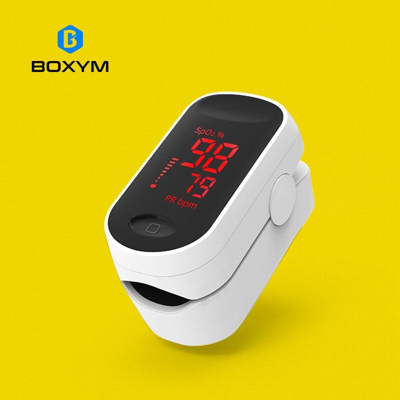 BOXYM médico oxímetro De Pulso De dedo LED Oximetro sangre oxígeno Monitor De ritmo cardíaco SpO2 monitores De salud Oximetro De Pulso