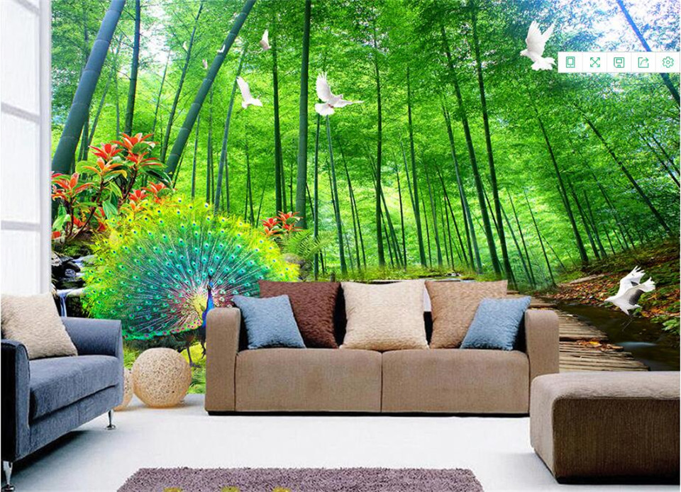 Us 22 49 50 Off Natural Scenery Wallpapers Pea Photo Wallpaper For Walls Bamboo Trees Forest Wall Murals Living Room Home Decor In