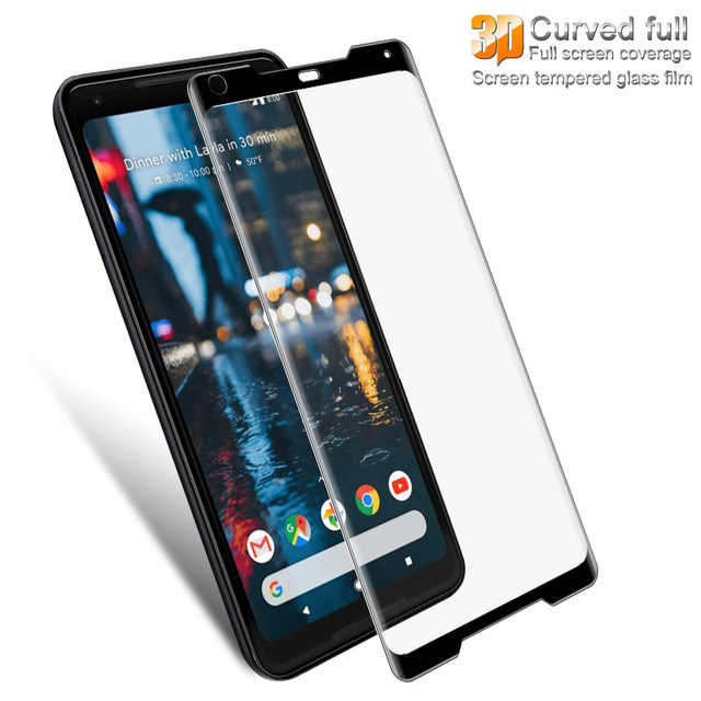 sale retailer df93c a2c80 US $9.04 20% OFF IMAK 3D Curved Full Cover Tempered Glass For Google Pixel  2 XL Screen Protector Full Screen Glass For Google Pixel 2XL XL2 Film -in  ...