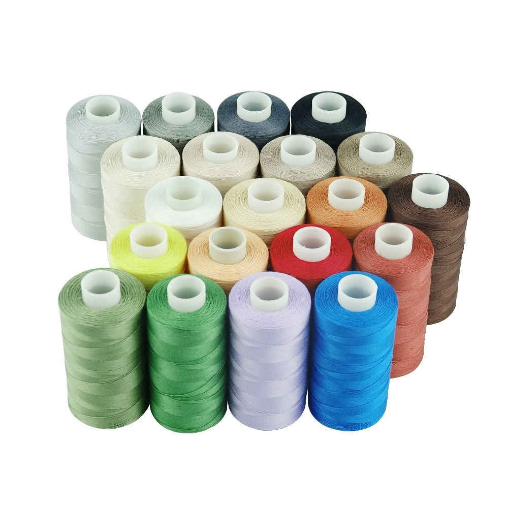 20 x LARGE SEWING All PURPOSE 100/% PURE COTTON THREAD SPOOLS 20 ASSORTED COLOURS