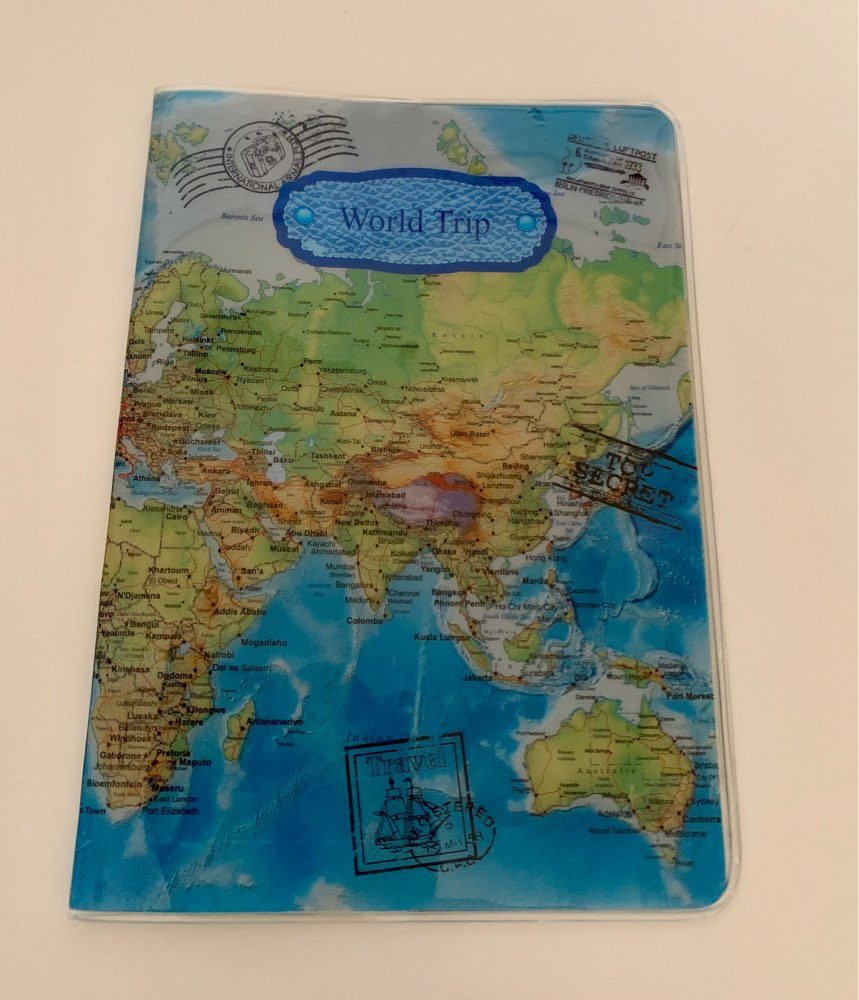 2019 New World Trip Map Travel Passport Covers for Men , PVC Leather ID Card Bag Passport holder Passport Wallets 14*10cm photo review