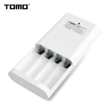 TOMO P4 ładowarka akumulatorów litowych dla 18650 etui na powerbank wyświetlacz LCD inteligentny flash lampka kontrolna