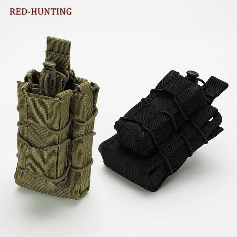 Hunting Nylon Magazine Pouch Tactical Single Pistol AK M4 M14 Pouch Military Fast Tactical Mag Pouches