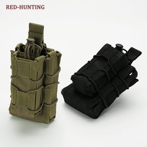 Hunting Nylon Magazine Pouch Tactical Single Pistol AK M4 M14 Pouch Military Fast Tactical Mag Pouches(China)
