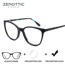 ZENOTTIC Acetate Myopia Prescription Glasses Women Optical C